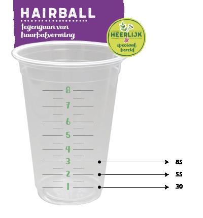 Maatbeker Kattenvoer Hairball